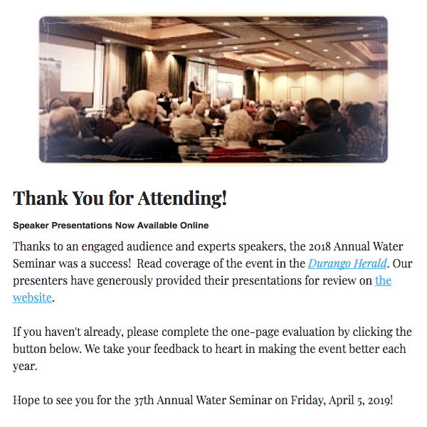 Presentations Online: SWCD's Annual Water Seminar - The